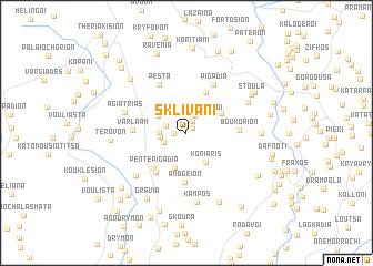 map of Sklívani