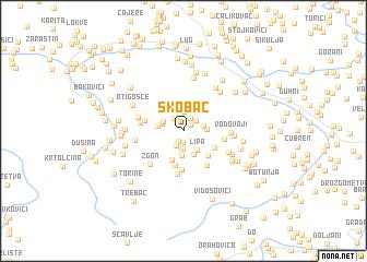 map of Skobač