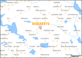 map of Skogseryd