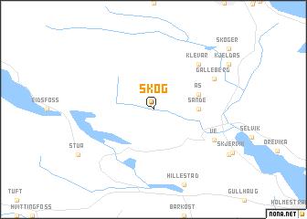 map of Skog