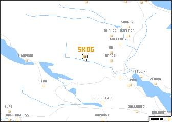 map of Skog