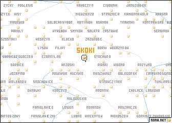 map of Skoki
