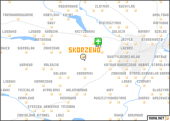 map of Skórzewo
