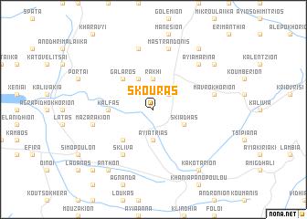map of Skoúras