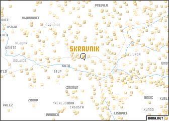 map of Skravnik