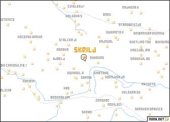 map of Škrilj