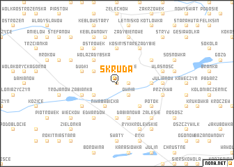 map of Skruda