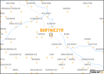 map of Skryhiczyn