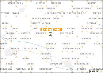 map of Skrzyszów