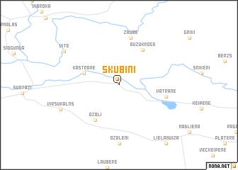 map of Skubiņi