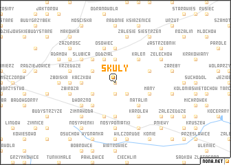 map of Skuły