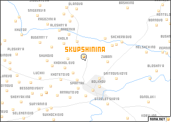 map of Skupshinina