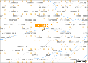 map of Skwirzowa