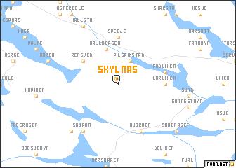 Skylnäs Sweden Map Nonanet - Jamtland sweden map