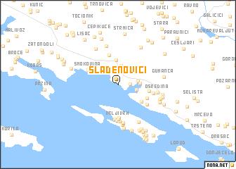 map of Slađenovići