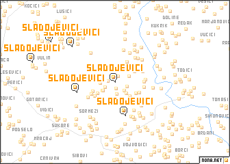 map of Sladojevići