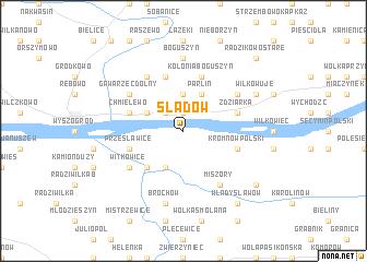 map of Śladów