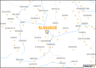 map of Sladuevo