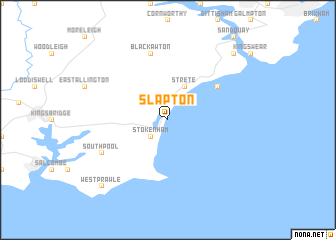 Slapton United Kingdom Map Nonanet - Topographic map of united kingdom