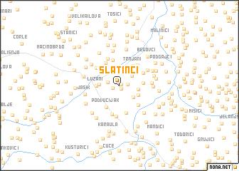 map of Slatinci