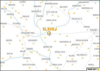map of Slavej