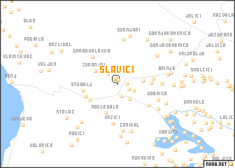 map of Slavići