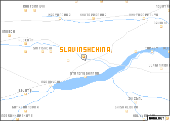 map of Slavinshchina