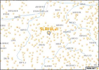 map of Slavulji