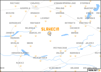 map of Sławęcin