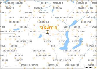 map of Sławęcin
