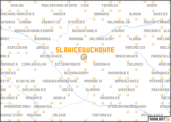 map of Sławice Duchowne