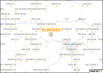 map of Sławinek