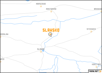 map of Sławsko