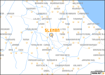 map of Sleman