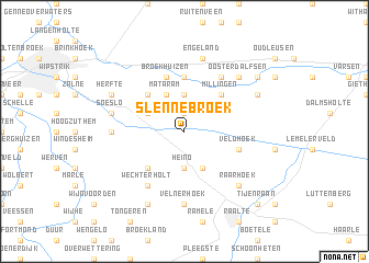 map of Slennebroek