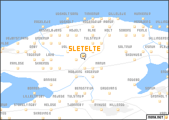 map of Sletelte