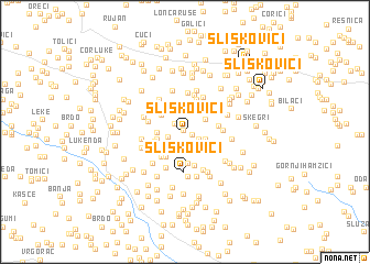 map of Sliškovići
