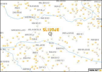 map of Slivnje