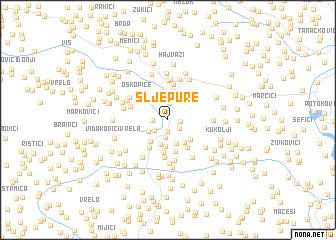 map of Šljepure