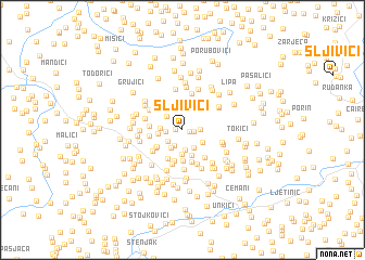 map of Sljivići