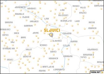 map of Šljivići