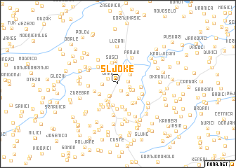 map of Šljoke