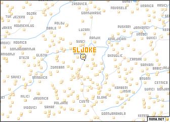 map of Šljoke