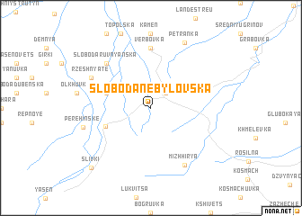 map of Sloboda-Nebylovska