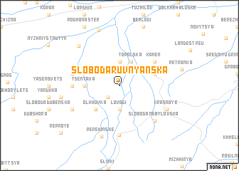 map of Sloboda-Ruvnyan'ska