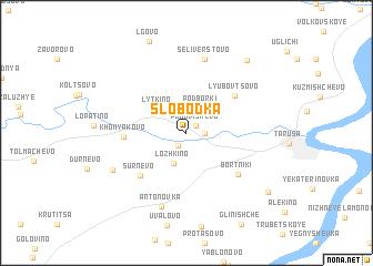 map of Slobodka