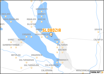 map of Slobozia