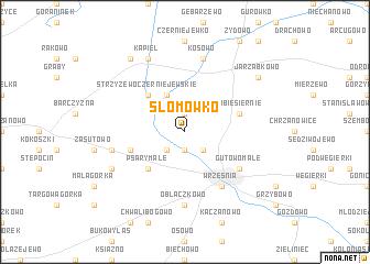 map of Słomówko