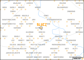 map of Słucz