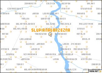 map of Słupia Nadbrzeżna